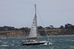 Sailing through Hurst Point towards Poole