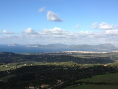 Alghero with Capo Caccia in the background