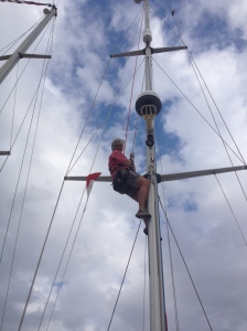 Liz  up the mast again!