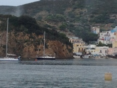 At anchor just outside Ponza